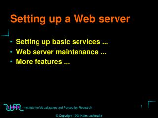 Setting up a Web server