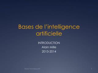 Bases de l ' intelligence artificielle