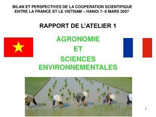 RAPPORT DE L'ATELIER 1