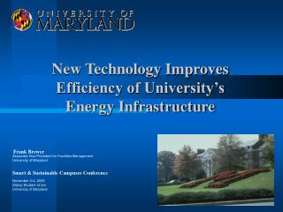 New Technology Improves Efficiency of University's Energy Infrastructure