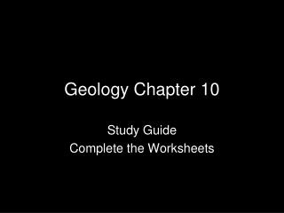 Geology Chapter 10
