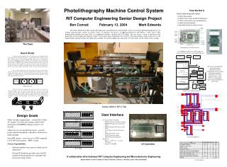 Photolithography Machine Control System RIT Computer Engineering Senior Design Project