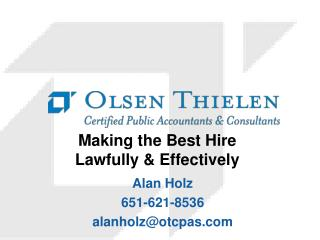 Making the Best Hire Lawfully & Effectively