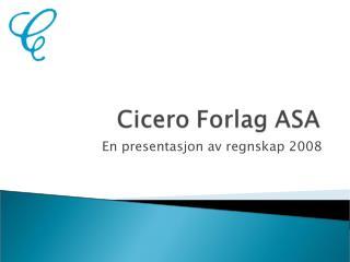 En presentasjon av regnskap 2008