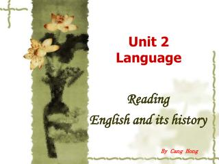 Unit 2 Language