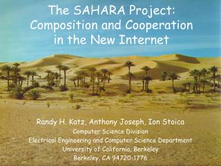 The SAHARA Project: Composition and Cooperation in the New Internet
