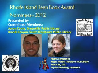 Rhode Island Teen Book Award Nominees - 2012