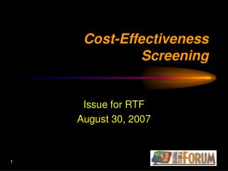 Cost-Effectiveness Screening
