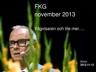 FKG november 2013 Vägvisaren och lite mer….