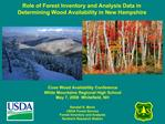 Role of Forest Inventory and Analysis Data in Determining Wood Availability in New Hampshire