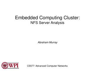Embedded Computing Cluster: NFS Server Analysis