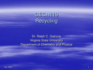 GECH119 Recycling