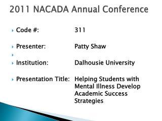 2011 NACADA Annual Conference