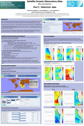 Satellite Oceanic Observatory Atlas aoos.mpl.ird.fr