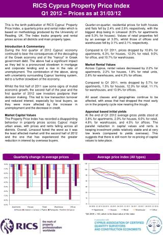 RICS Cyprus Property Price Index  Q1  201 2 – Prices as at 31/03/12