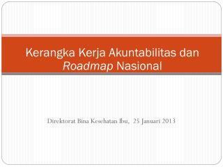Kerangka Kerja Akuntabilitas dan  Roadmap  Nasional