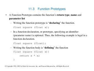 11.3 Function Prototypes