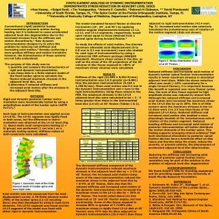 Table 1. Calculated Maximum Stress (MPA) in (L3-L4) Adjacent Level Disc