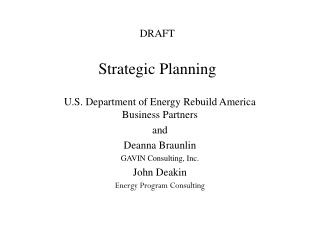 DRAFT Strategic Planning