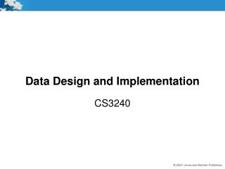 Data Design and Implementation