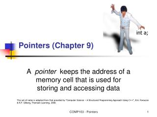 Pointers (Chapter 9)