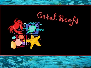 The Undersea Environment  of Coral Reefs