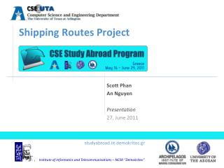 Shipping Routes Project