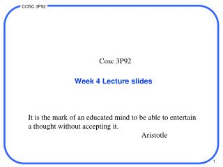 Week 4 Lecture slides