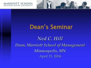 Dean's Seminar