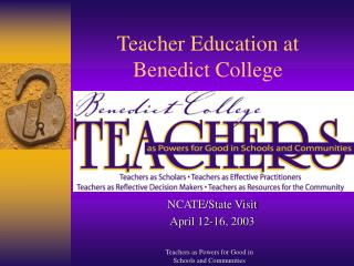 Teacher Education at Benedict College
