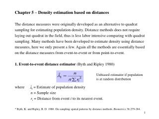 Chapter 5 – Density estimation based on distances