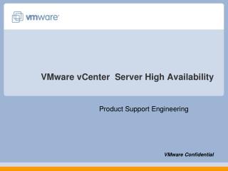 VMware vCenter  Server High Availability