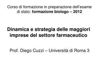 Corso di formazione in preparazione dell'esame di stato:  formazione biologo – 2012