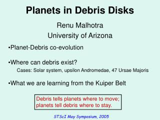Planets in Debris Disks