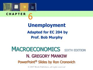 Unemployment Adapted for EC 204 by Prof. Bob Murphy