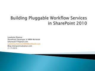 Building Pluggable Workflow Services in SharePoint 2010