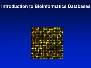 Introduction to Bioinformatics Databases