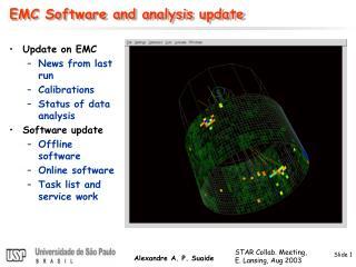 EMC Software and analysis update