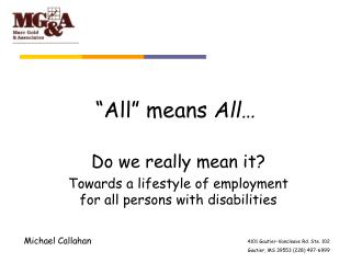 """""""All"""" means  All…"""