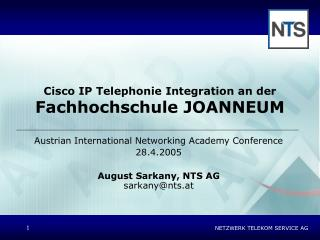 Cisco IP Telephonie Integration an der Fachhochschule JOANNEUM