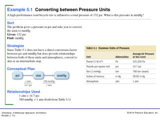 Sort The problem gives a pressure in psi and asks  you to  convert the units to mmHg.