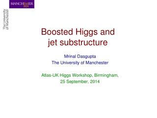 Boosted Higgs and   jet substructure