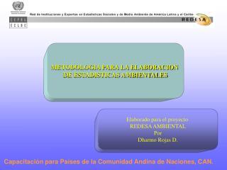 METODOLOGIA PARA LA ELABORACION  DE ESTADISTICAS AMBIENTALES