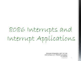 8086 Interrupts and Interrupt Applications