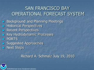 SAN FRANCISCO BAY  OPERATIONAL FORECAST SYSTEM