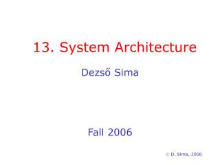 13. System Architecture