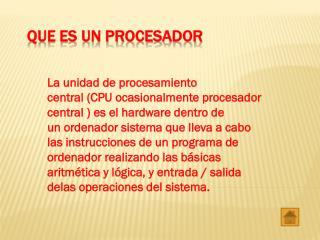 Que es un procesador