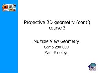 Projective 2D geometry cont  course 3