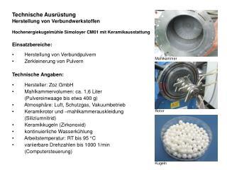 Technische Ausrüstung Herstellung von Verbundwerkstoffen
