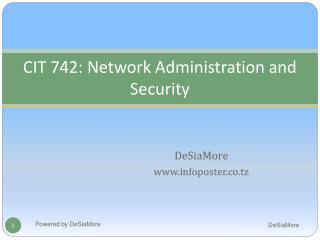 CIT 742: Network Administration and Security